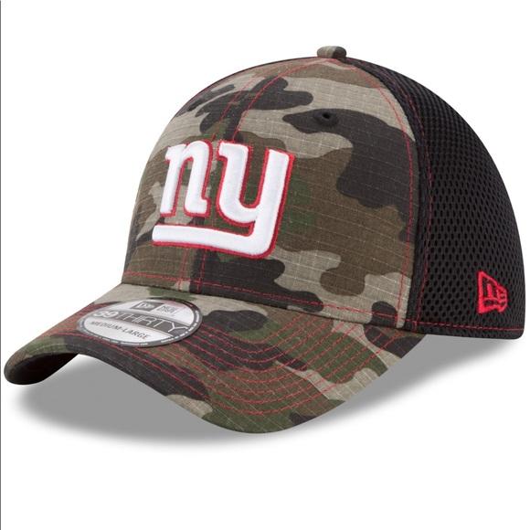 9d3b9225958 NY Giants New Era 39Thirty Camo Baseball Cap NWT